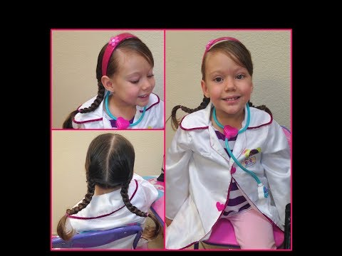 Peinado Doctora Juguetes - Doc  Mcstuffins Hairstyle / Peinado para Niña - Hairstyle for Girls