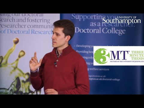 Miguel Xavier, Three Minute Thesis | University of Southampton