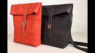 Backpack Slim Rucksack aus Korkleder selbermachen korkundkulör (CreativCoach 9)