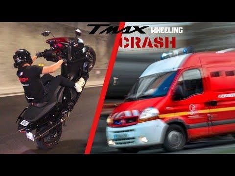 TMAX 530 CRASH WHEELING : MON ACCIDENT