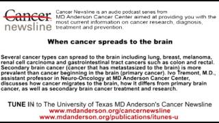 When cancer spreads to the brain