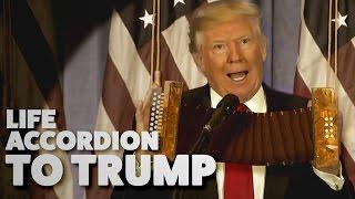 Trump mit dem Akkordeon