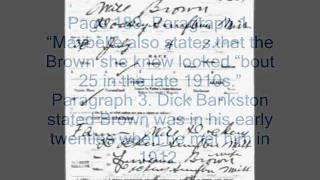 WILL BROWN at Dockery Plantation 1918- DRAFT CARD WWI
