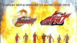 Shuriken Sentai Ninninger & Kamen Rider Drive | Spring Vacation Combining Special REVIEW