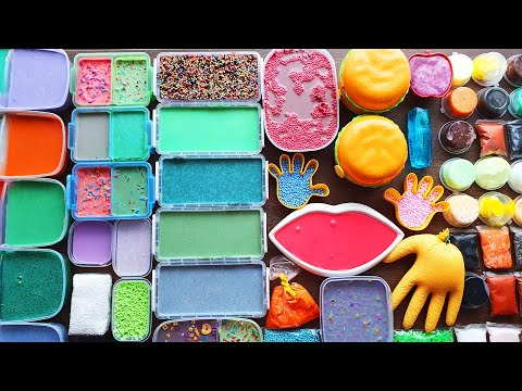 Slime Smoothie - Mixing Old Slimes And Clay- Satisfying Slime Videos