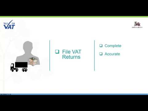 Generate United Arab Emirates VAT Return Using Tally.ERP 9