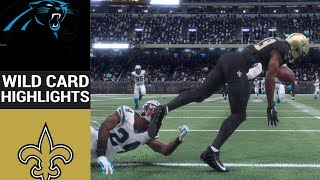 Panthers Vs. Saints | NFL Wild Card Game Highlights Madden 18