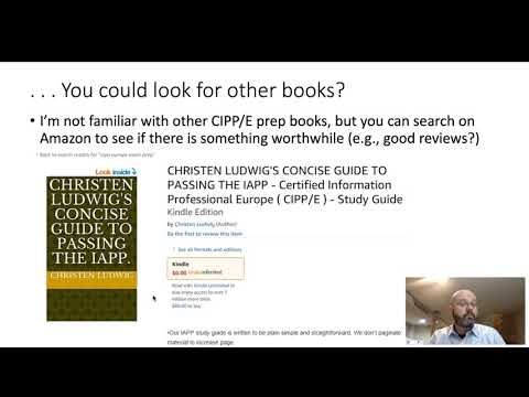 Preparing for CIPP E Part 1 - YouTube