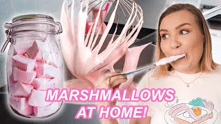 Can You Make MARSHMALLOWS AT HOME? Making Homemade Marshmallows