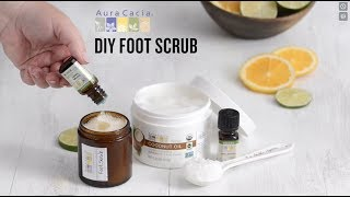 DIY Foot Scrub with Coconut and Lime Essential Oil