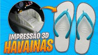 """IMPRIMI HAVAINAS 3D FLEXÍVEIS """"E FIZ O TESTE DRIVE NA RUA"""""""