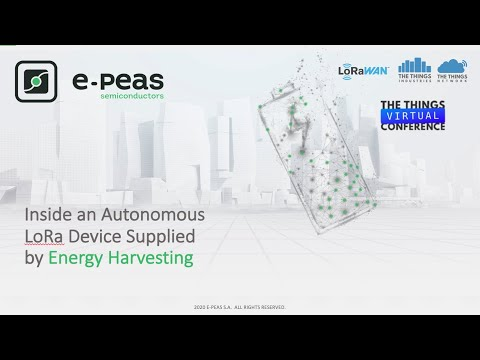 Energy Harvesting - how to supply a LoRa Device