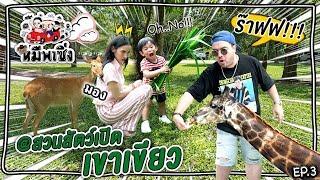หมีพาซิ่ง EP3 | เรสซิ่งพบปะร๊าฟ ลิง กวิ้น แรด ที่สวนสัตว์เปิดเขาเขียว!!!