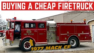 I BOUGHT A Legit FIRETRUCK From The Fire Department