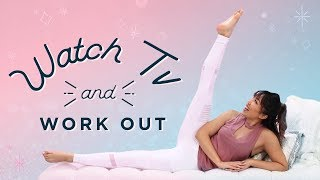The Best Workout for Watching TV! | At Home Toning Exercises by blogilates
