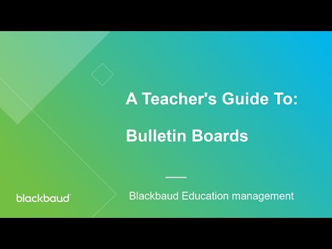 A Teachers Guide to Using Bulletin Boards - Education ... - YouTube