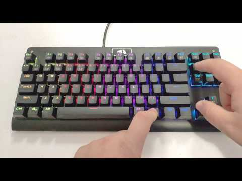 7c548171a5b 5 Mechanical Gaming Keyboards Under $50! Redragon Dark Avenger - All RGB  Effects and Typing Sound
