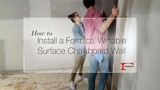 DIY Formica® Writable Surfaces Chalkboard Wall