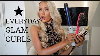 MY EVERYDAY GLAM CURLS ! HAIR TUTORIAL... SUPER EASY !