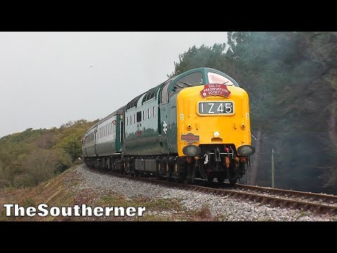 Deltic D9009 'Alycidon' with 'The Swanage Belle' 21st Octobe…