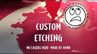 Deep Glass Etching Without Laser -Handmade Custom Gifts