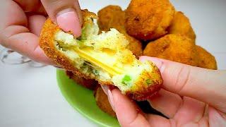 ВКУСНЫЕ Картофельные КРОКЕТЫ с Начинкой из СЫРА и Зеленого лука