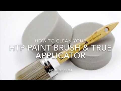How to Clean Your Heirloom Traditions Paint Brushes & True Applicator using ALL-IN-ONE Paint