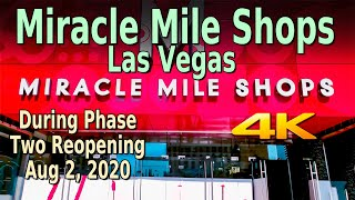 MIRACLE MILE SHOPS LAS VEGAS STRIP REOPENING WALKING TOUR In 4K - Aug 2, 2020