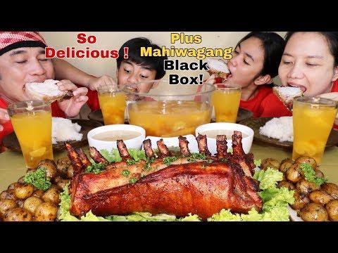Roasted Bone in Pork Loin,Parsley Baby Potato, Delicious Gravy and Dalandan Juice Pinoy Mukbang