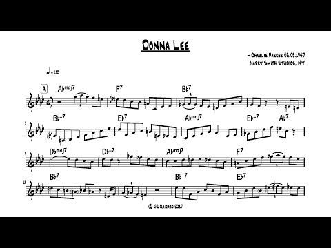 Charlie Parker - Donna Lee - Full transcription