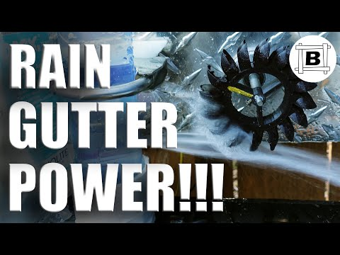 Rain Gutter POWER #1 - How to Harvest Free Energy From Your Roof with a Hydro Electric Generator!