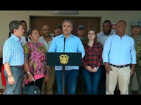 Presidente Duque al finalizar la reunión con los alcaldes del Bajo Cauca - 15 de agosto de 2019