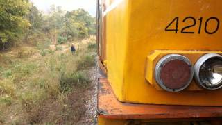 preview picture of video 'Express No. 51 (Alsthom 4210) moving after hot engine'