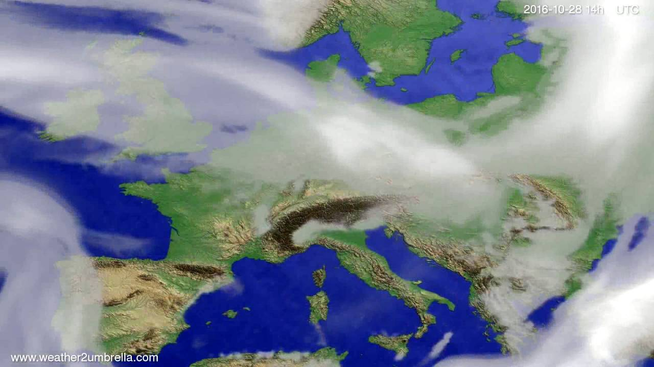 Cloud forecast Europe 2016-10-24