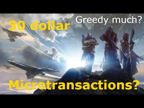 Destiny $30 microtransactions and class boosts are terrible for gaming? Pay to win?