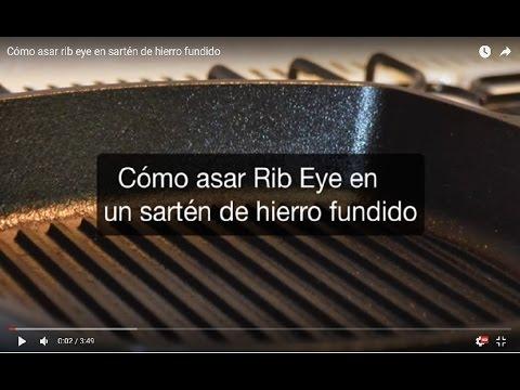Cómo asar rib eye en sartén de hierro fundido