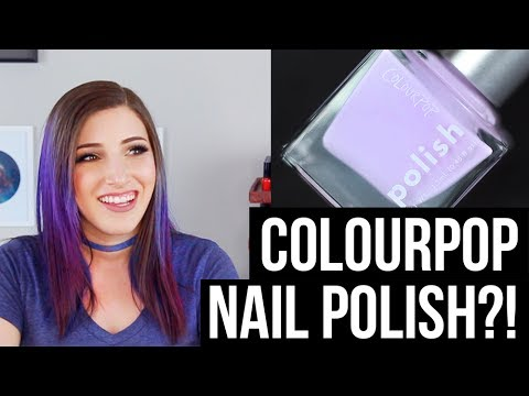 ColourPop NAIL POLISH?! Swatches and Review! || KELLI MARISSA