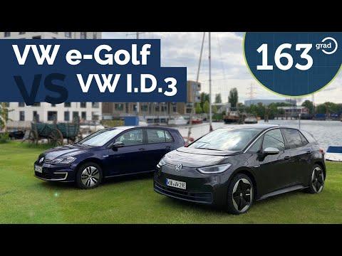 VW ID.3 versus VW e-Golf - Der direkte Vergleich mit erstaunlichen Ergebnissen | 163 Grad