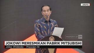Presiden Jokowi Meresmikan Pabrik Mitsubishi