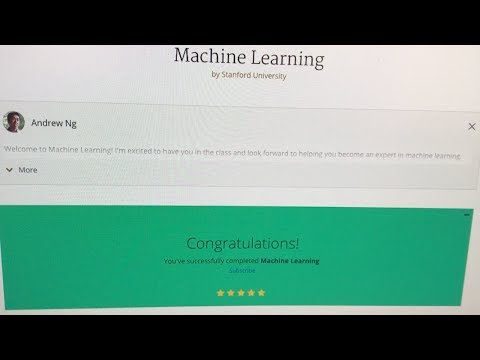 Completing Andrew Ng's Machine Learning Course on Coursera ...