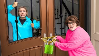 TRAPPED for 24 HOURS by MYSTERY NEIGHBOR TWIN (Home Alone Prank on Stephen Sharer)