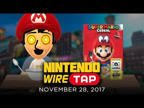 Super Mario Cereal With a Built in amiibo? | Nintendo Wiretap | November 28th, 2017