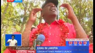 KANU big wigs officiate the launch of Maina Njenga's senatorial bid as he opens KANU Nanyuki offices