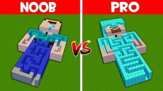 Minecraft NOOB vs PRO: NOOB FOUND SECRET MAZE INSIDE NOOB vs HIDDEN MAZE INSIDE PRO! (Animation)