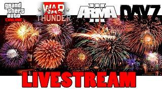 LIVESTREAM DO FIM DE ANO | WAR THUNDER - GTA V - DAYZ - ARMA 3