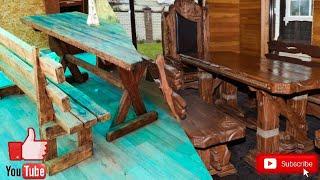 Стол из дерева своими руками декор участка необычные формы  поделки своими руками декор