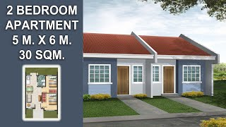 30 Sqm. Small Beautiful Simple Pinoy/OFW Apartment