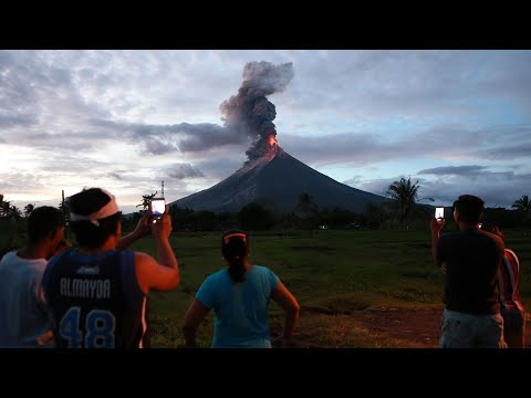 56,000 people flee as Philippines volcano spews lava