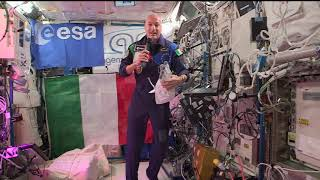 Expedition 61 InFlight with Italian President Sergio Mattarella - November 6, 2019 by NASA