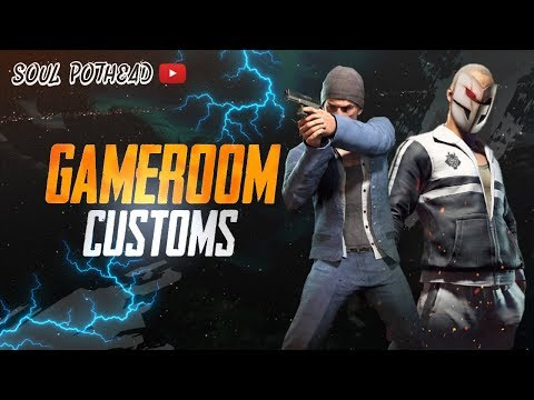 GAME ROOM CUSTOMS | PUBG MOBILE | LIVE-with potHEAD